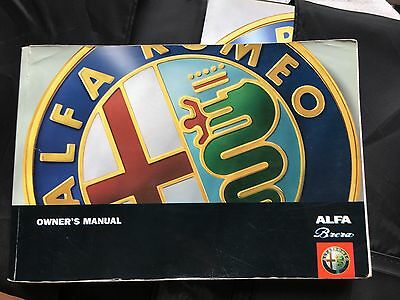 Alfa Brera owners manual,Service, sound system,Alfa AA book & pouch Nr Mint VGC