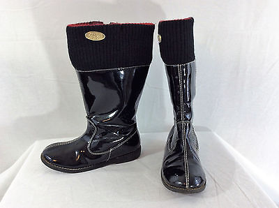 Michael Kors Red/Black Andi Boots Girl's Size 11