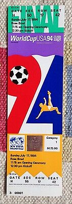 1994 World Cup Final Ticket:- Italy v Brazil