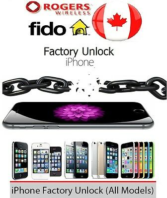 EXPRESS ROGERS FIDO FACTORY UNLOCK SERVICE iPHONE 4s 5 5c 5s 6 6s 6+ 6s+ SE 7 7+