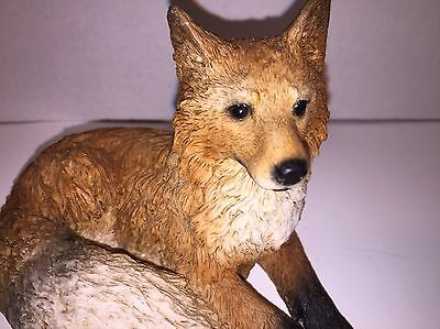 Castagna Red Fox Figure, Made In Italy, 1988