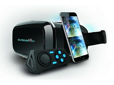 GoClever Elysium VR Plus Brille 3D virtual reality Cardboard mit Controller NEU