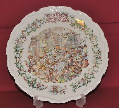 Royal Doulton Bone China Plate 'Wind in the Willows~Badgers Party'