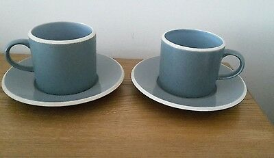 Vintage Denby cups and saucers. 4 items. Good condition...