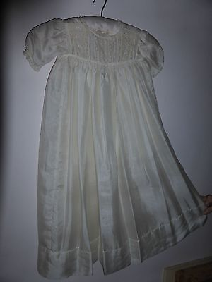 Antique pure silk baby christening gown