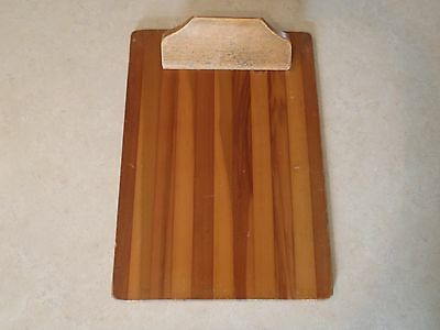 Vintage Wood Clipboard with Wooden Clip