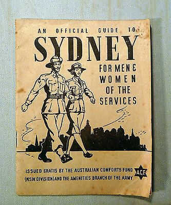 WW2 - Australian Guide to Sydney for men & women of the services