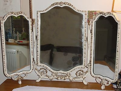 Large Queen Anne Triple Dressing Table Mirror