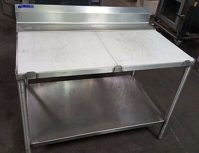 "Universal Stainless Steel Poly Trimming Table 48"" x 30"" Commercial Kitchen"