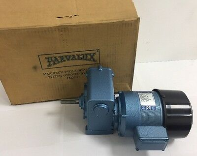 New Parvalux 150w SD13 Electric Motor Gearbox Single Phase 220/240vAC 32RPM