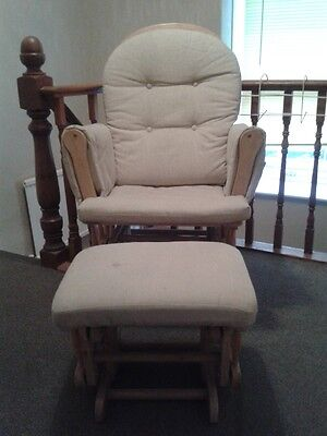 Rocking Nursing Chair and Footstool