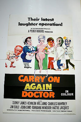 CARRY ON AGAIN DOCTOR - 1969  Original 1 Sheet Poster