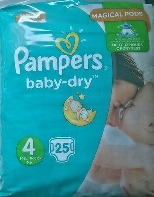 Couche pampers baby dry taille 4 (x2)