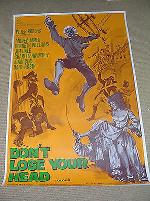 DON'T LOSE YOUR HEAD - One sheet poster (yellow)