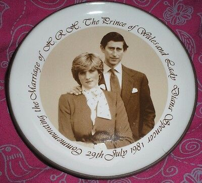 Charles & Diana Commemorative Wedding Pin Tray/Plate by Hornsea