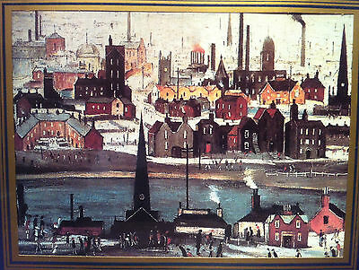 Vintage L S Lowry Framed Print - Industrial Landscape - The Canal