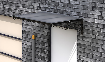 Metal Door Awning Front Back Porch Canopy Rain Shelter Roof Outdoor Shade Shed