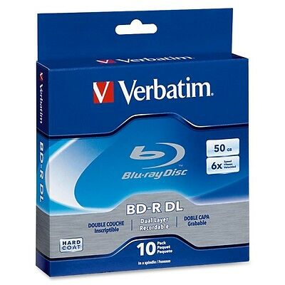 Verbatim BD-R DL 50GB 6X with Branded Surface - 10pk Spindle Box