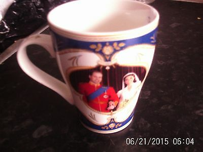 Prince William and Kate The Royal Wedding  fine china mug by Royal Crest