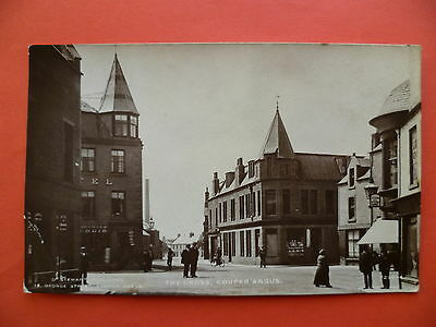 Perthshire: Coupar Angus, The Cross, Town Square, Hotel,  RP by D Stewart
