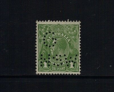 Kgv C Of A 1D Green Perf G/nsw Fine Muh Scarce Stamp