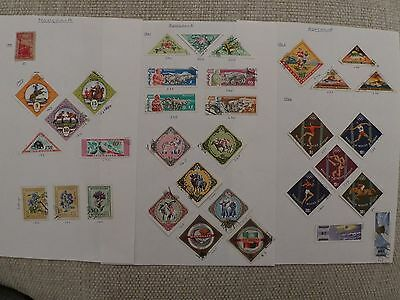 Mongolia collection of 132 stamps - see all scans