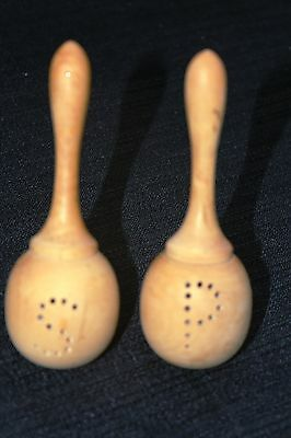 Salt And Pepper Shakers   Wooden Maracas