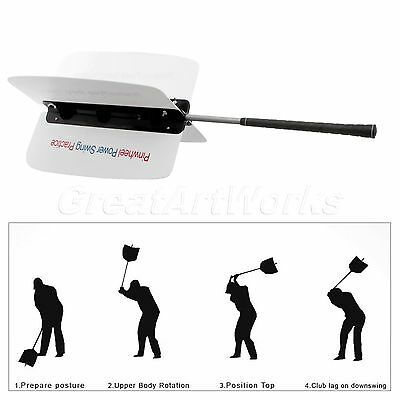 1× Golf Swing Grip Power Fan Trainer Resistance Practice Training Tool Aid Guide