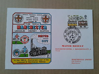 MANCHESTER UNITED v MANCHESTER CITY 1980 100th League Meeting Cover(No9)