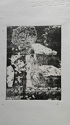 wood cut  print - figurative / lady inspired by antique times ART CELF