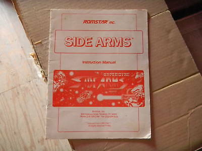 SIDE ARMS ROMSTAR video game manual    K