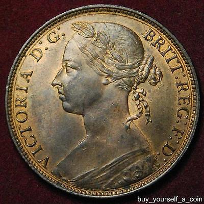 GB Queen Victoria bronze penny 1882 H - high grade with lot of lustre
