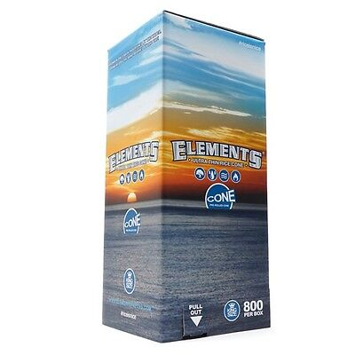 200 Pack - Elements Rice Cones 1 1/4 Authentic Pre-Rolled Cones w/ Filter