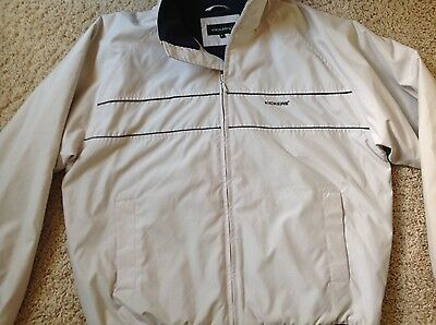 Mens Kickers Light Grey Zip Jacket Size Large