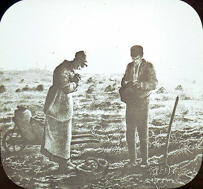 Famous Painting THE ANGELUS by Jean-Francois Millet 1857 Lantern Slide
