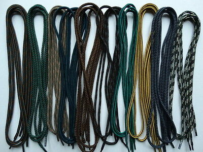 10 pairs 100cm round mixed multi coloured shoe boot trainer laces - job lot E10.