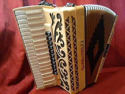 Blonde Wood Gabbanelli Piano Accordion 41 120 LMMH Made in Italy
