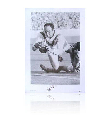 Billy Boston signed print - Wigan Wizard Autograph