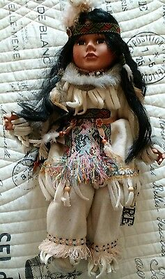 Cathay 1-5000 Native American Indian Porcelain Doll