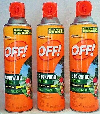 3 OFF! 16 oz Outdoor Backyard Pretreat Fast Acting Last 6 hrs Bug Spray Fogger