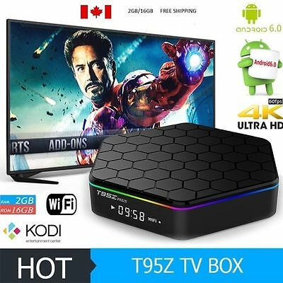 New T95X Android 6.0 TV Box Amlogic S905X 2GB/16G Quad Core DLNA  4K/Kodi 17.3
