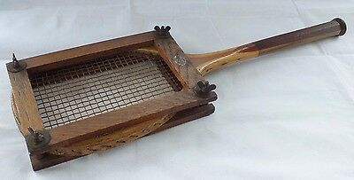 VINTAGE Wooden Tennis Racket F.H. AYRES BENETFINK LONDON with Wooden Press Daisy