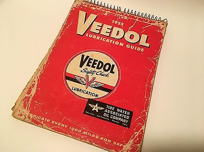1955 Veedol Safety Check Chart Lubrication Encyclopedia Tide Water Oil Company