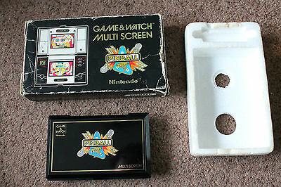 Boxed Nintendo Game Watch Pinball Pb-59 1983 Good Condition