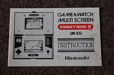Genuine Nintendo Game And Watch Donkey Kong 2 Jr-55 1983 Instruction Manual