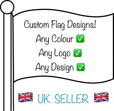 Customised Flag/Printing Design 3ftx2ft -  Any Colour Any Design Personalised