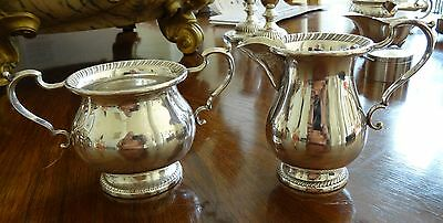 Hunt Silver Company #151 Sterling Silver Creamer and Sugar No Monogram