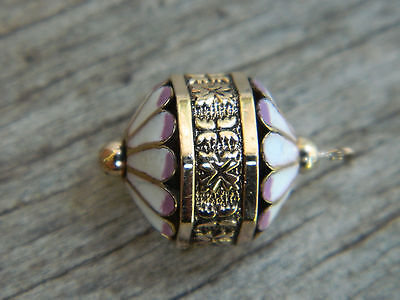 Antique Victorian Gold Filled Enameled Watch Fob