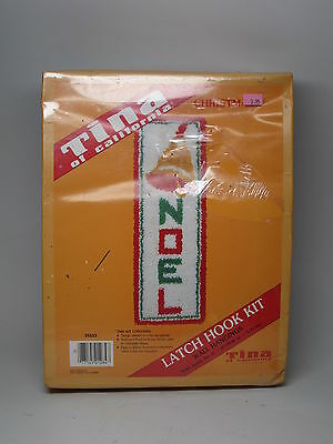 Vintage Tina of California Latch Hook kit craft Christmas NOEL Bell Wall Hanging