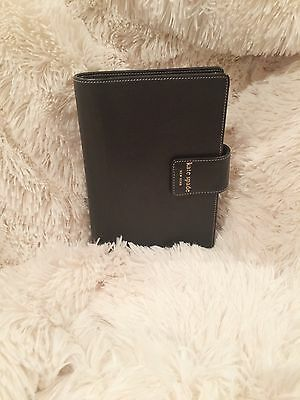 Kate Spade Planner | SUPER-Soft Black Leather | Used with Markings